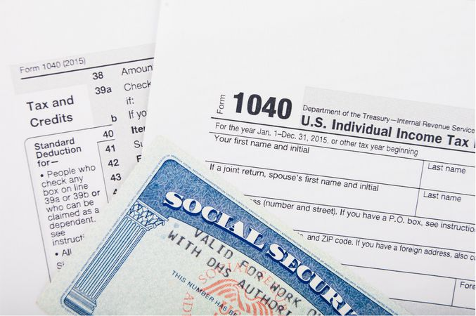 SSN and 1040 form