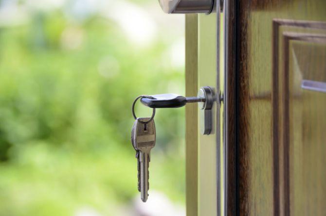 Set of keys in a lock